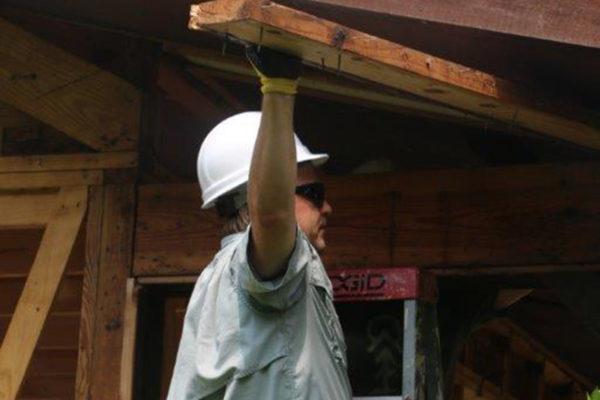 DJD pulling wood
